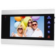 """EVJ-71 Цветной 4-x проводной 7"""" LCD TFT видеодомофон на две вызывные панели, слот microSD"""